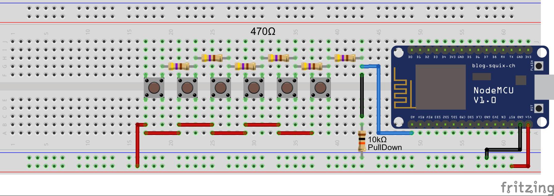 Mehrere Buttons an einem Arduino GPIO Pin