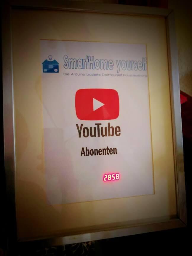 YouTube Abonnentenzahl auf einem Display anzeigen