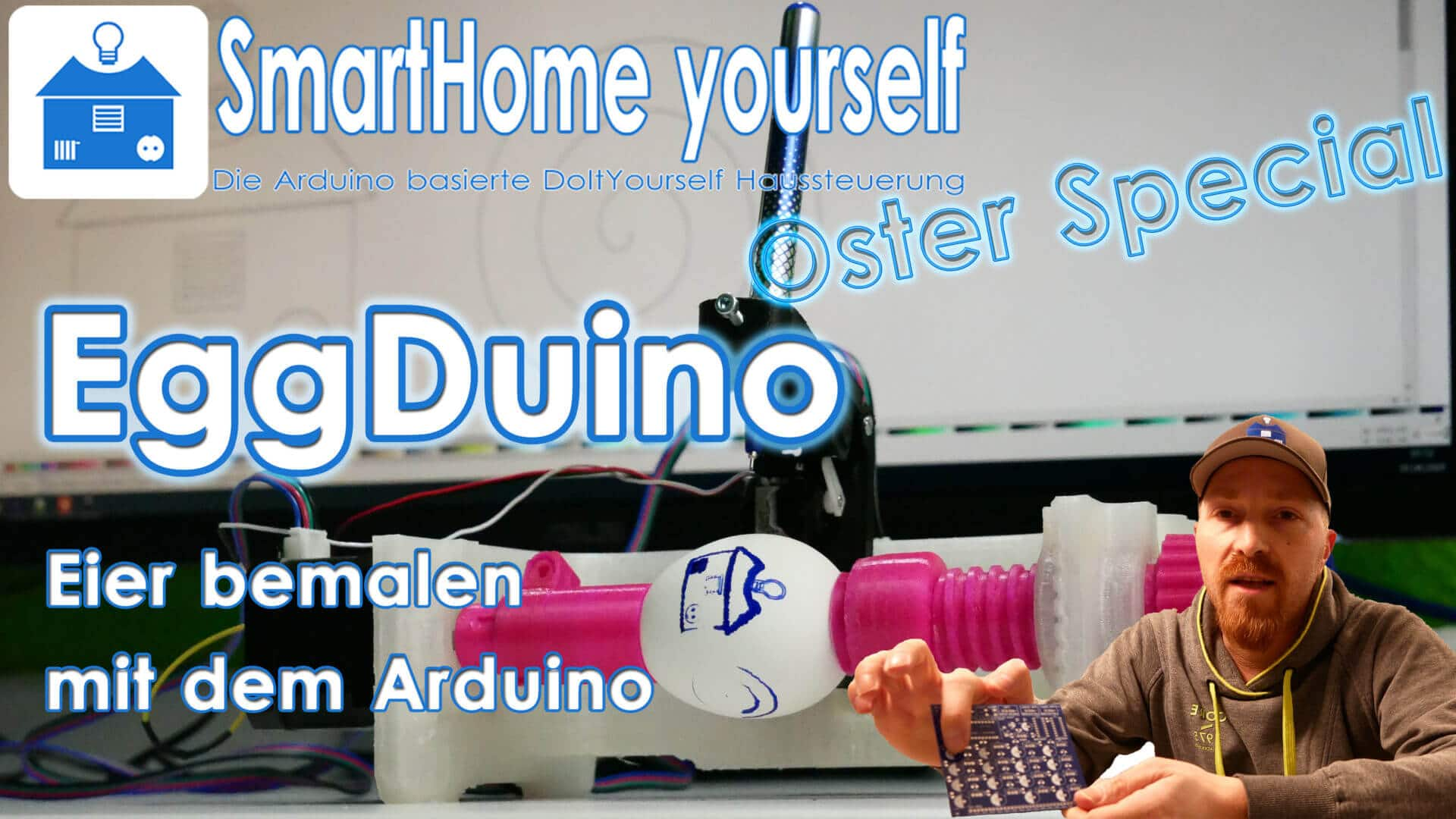 Eier bemalen mit Arduino (EggDuino, EggBot bzw. Spherobot)