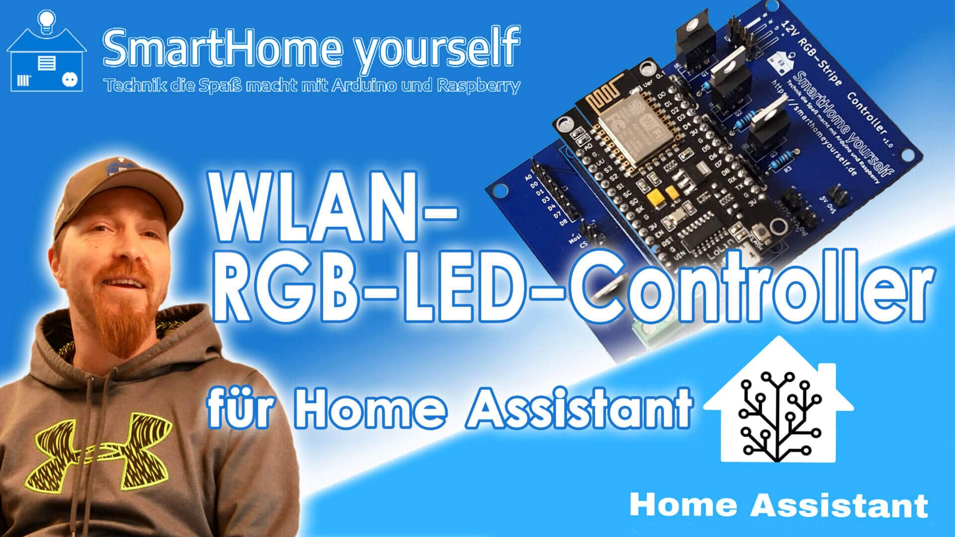 WLAN 12V-RGB-LED Controller für Home Assistant mit ESPHome