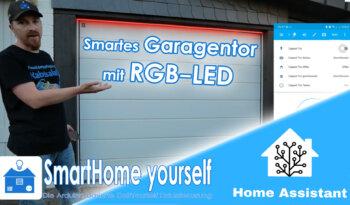 Garagentor-Motor mit RGB-LED Animation